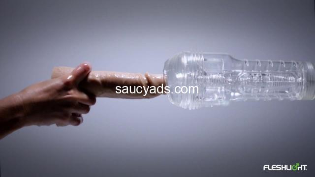 Watch yourself in action with the Fleshlight Ice Lady Crystal - 2/3