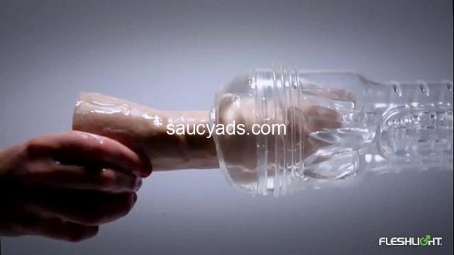Watch yourself in action with the Fleshlight Ice Lady Crystal - 3/3