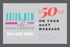 Arian M2M - Massage & Manscaping pamper sessions