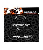 Oxballs Willy Cock Rings 3 Pack | Super Stretchy, Strong & Stackable | Buy for R145