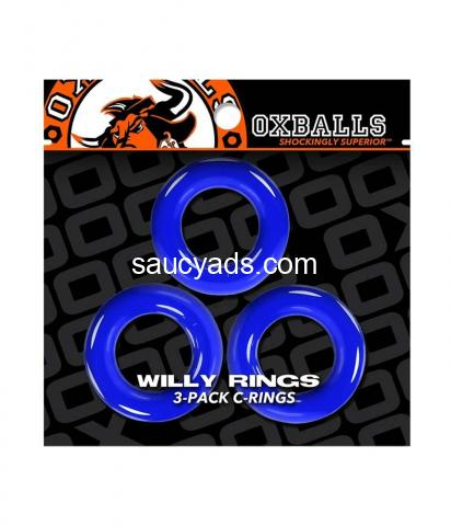 Oxballs Willy Cock Rings 3 Pack | Super Stretchy, Strong & Stackable | Buy for R145 - 8/9